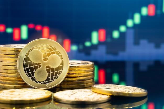 Concept d'investissement ripple (xrp) et crypto-monnaie