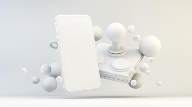 Concept de jeu mobile dans le rendu 3d