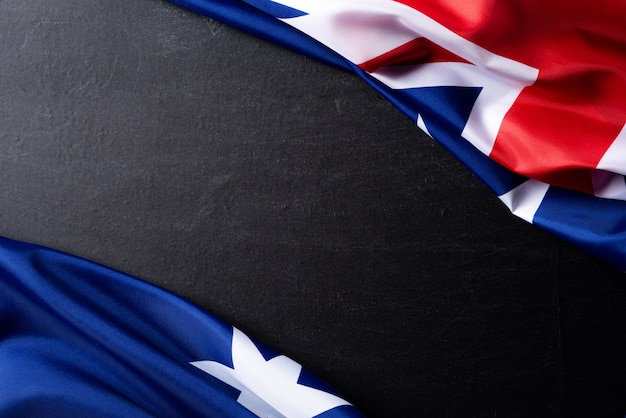 Concept de jour de l'australie. drapeau australien