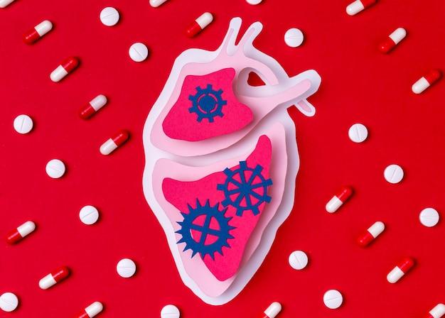 Concept de la journée mondiale du cœur avec la médecine