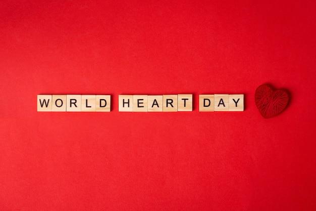 Concept de la journée mondiale du cœur.