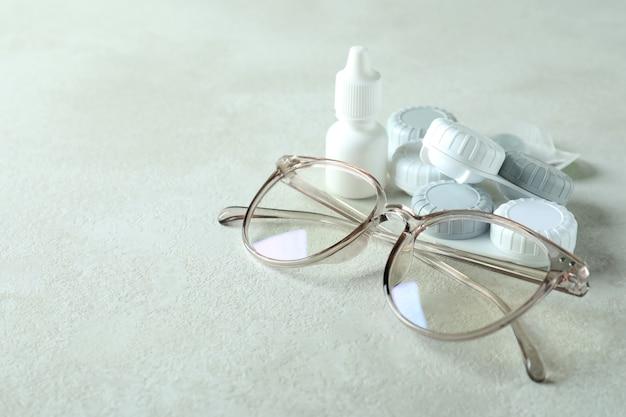 Concept de lentilles de contact pour les yeux, soins de santé