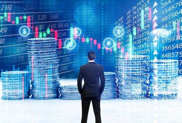 Concept en ligne de bourse