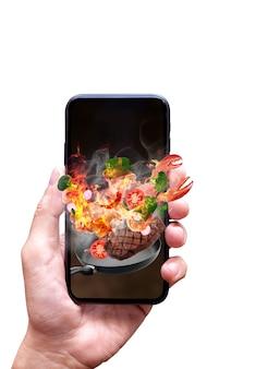 Concept en ligne de livraison de nourriture
