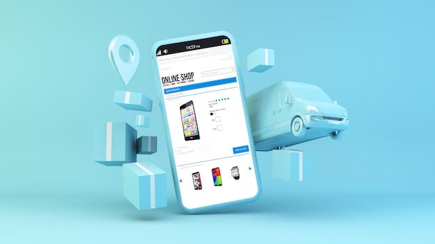 Concept de livraison boutique en ligne