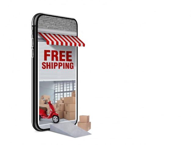 Concept de livraison gratuite