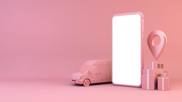 Concept de livraison mobile