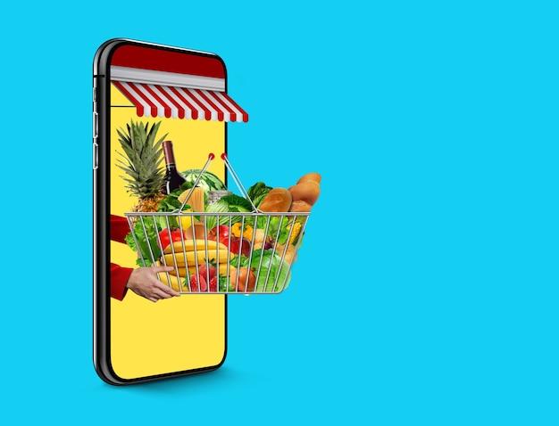 Concept de livraison de nourriture fraîche