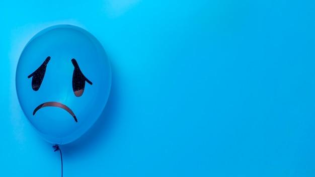 Concept de lundi bleu avec espace copie