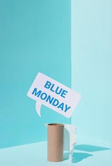 Concept de lundi bleu triste