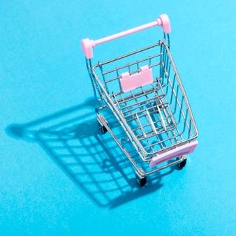 Concept de magasinage en ligne vue de dessus