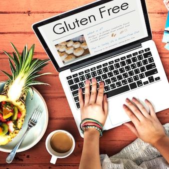 Concept de maladie coeliaque sans gluten