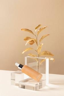 Concept De Maquillage Avec Fond De Teint Photo gratuit