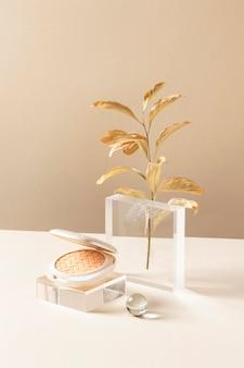 Concept de maquillage avec de la poudre