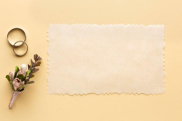 Concept de mariage de luxe papier de mariage espace copie