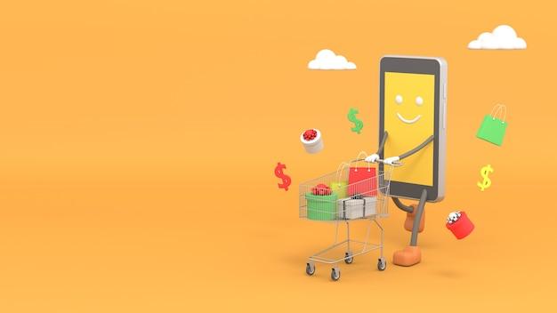 Concept de marketing en ligne avec smartphone