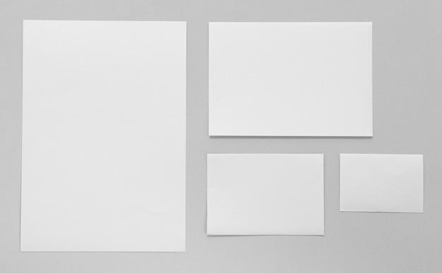 Concept de marque avec papier vue ci-dessus