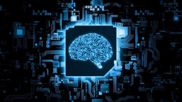 Concept de matériel d'intelligence artificielle.