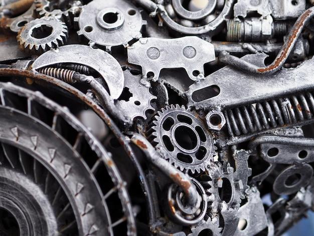 Concept mécanique des pièces de voitures