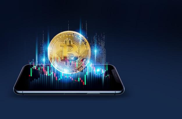 Concept de minage de bitcoins