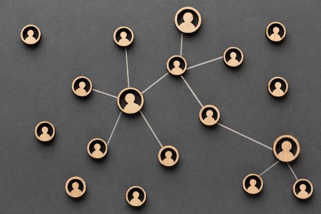 Concept de mise en réseau arrangement de nature morte