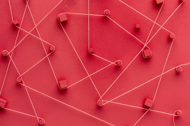 Concept de mise en réseau nature morte