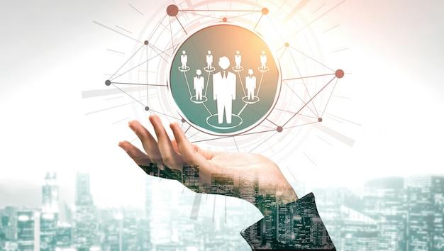 Concept de mise en réseau des ressources humaines et des personnes