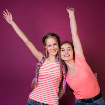 Concept de mode de vie des amis adolescents