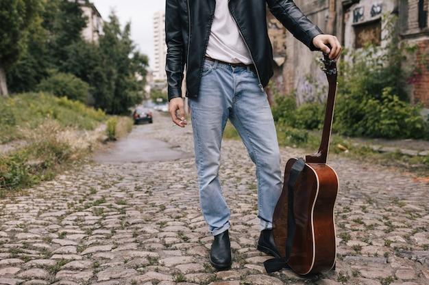 Concept de mode de vie musicien guitariste artiste interprète