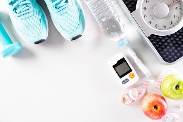 Concept de mode de vie sain, de nourriture et de sport