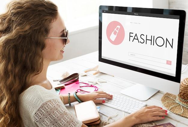Concept de modèle de créateur de costumes de vêtements de beauté de mode