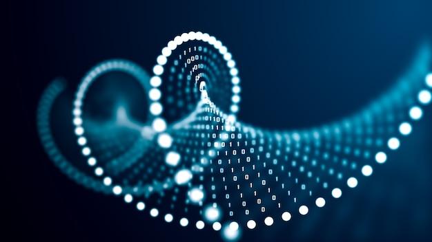 Concept de molécule d'adn de l'intelligence artificielle