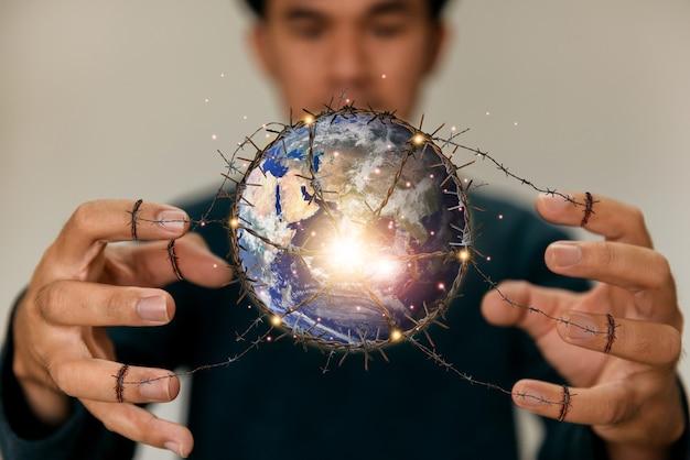 Concept mondial d'énergie écologique et renouvelable éléments de cette image fournis par la nasa