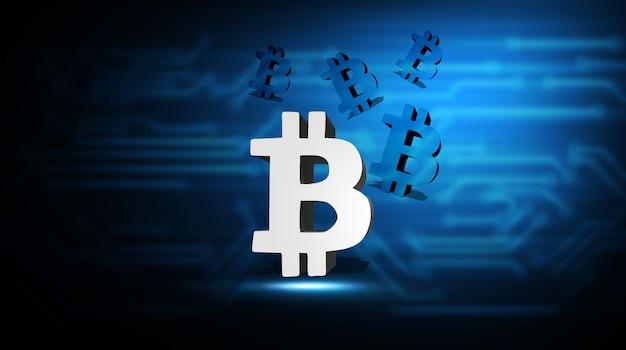 Concept de monnaie numérique du réseau technologique mondial, illustration 3d