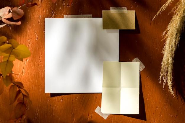 Concept de moodboard automne avec espace copie