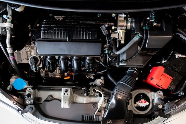 Concept de moteur de moteur de voiture close up detail of new motor engine part