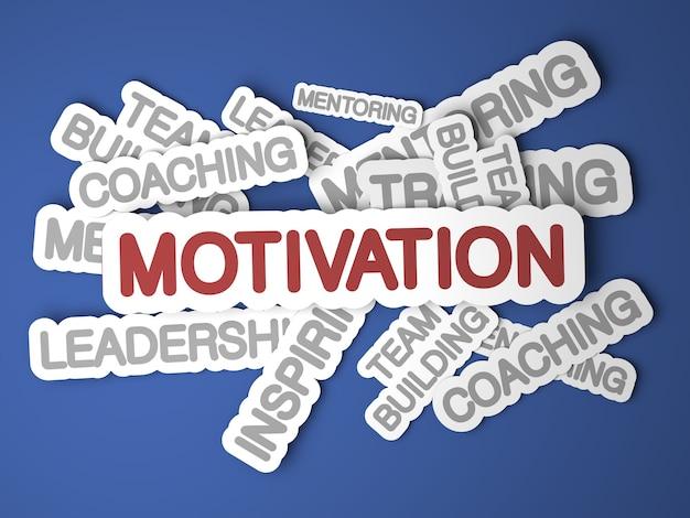 Concept de motivation. rendu 3d.
