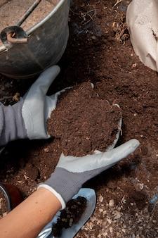 Concept de nature morte de compost