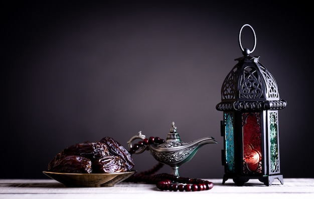Concept de nourriture et de boissons ramadan