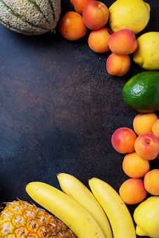 Concept de nourriture végétalienne saine