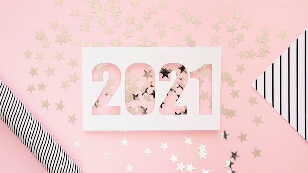Concept de nouvel an beau et pailleté