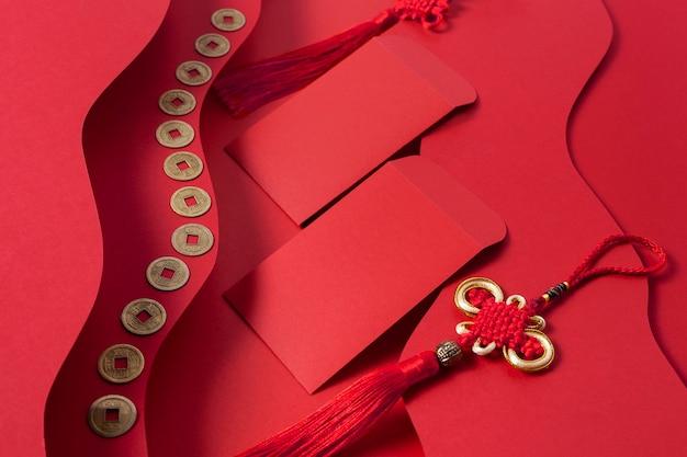 Concept de nouvel an chinois dans un style isométrique