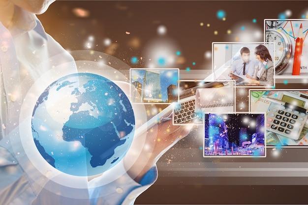 Concept de nouvelles et de communication, médias sociaux