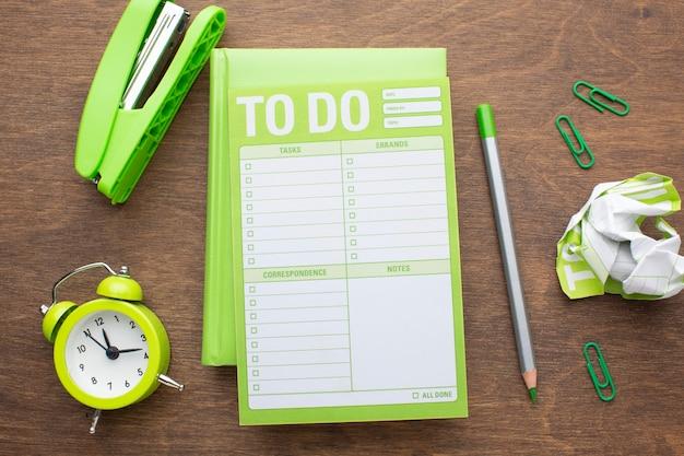 Concept d'organisation du temps avec planificateur