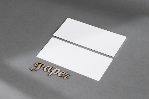 Concept de papeterie avec deux bannières