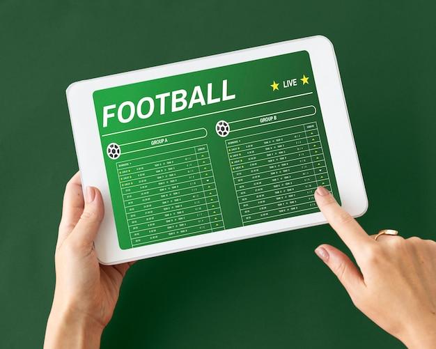 Concept de pari de jeu de football de jeu