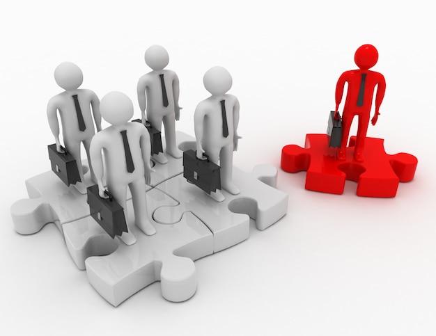 Concept de partenariat ou de leadership. illustration 3d