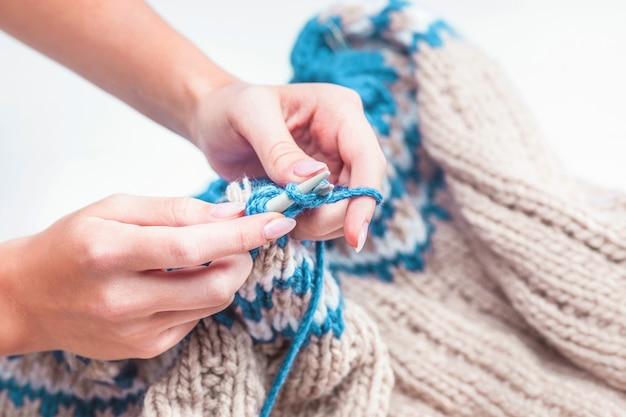 Le concept de passe-temps - tricot