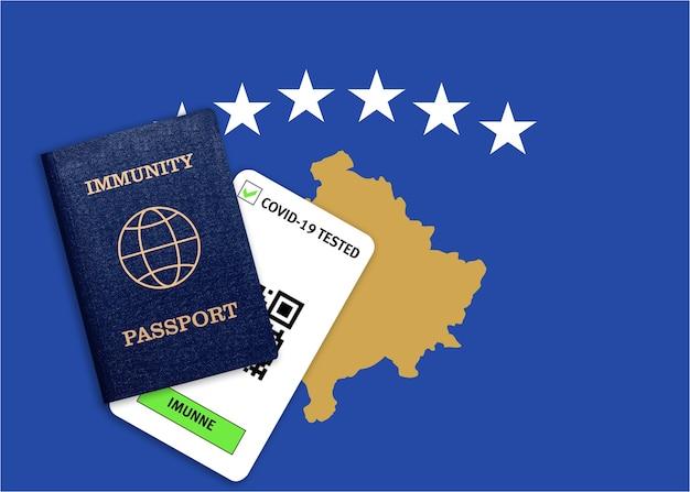 Concept de passeport d'immunité, certificat pour voyager après une pandémie pour les personnes qui ont eu un coronavirus