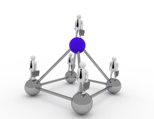 Concept de patron et homme d'affaires
